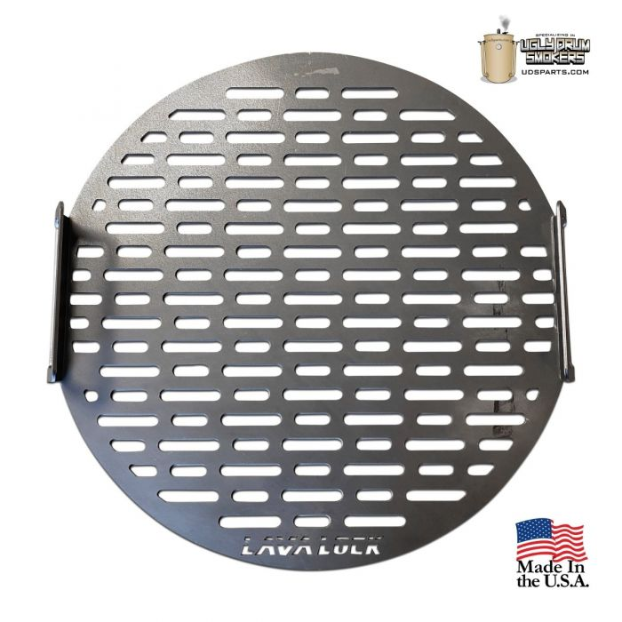 LavaLock Drum cooking grate - Laser cut w/ logo