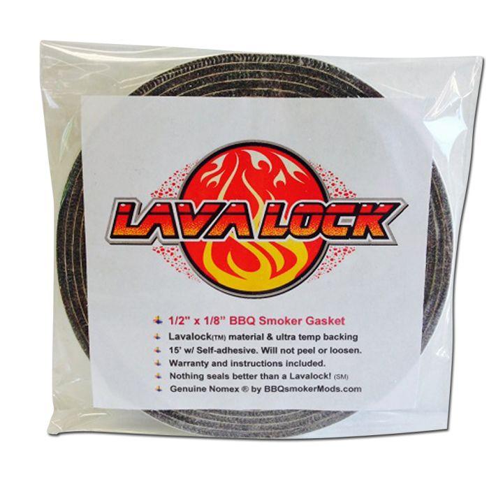 1/2 x 1/8 Grey with LavaLock (Self Stick)