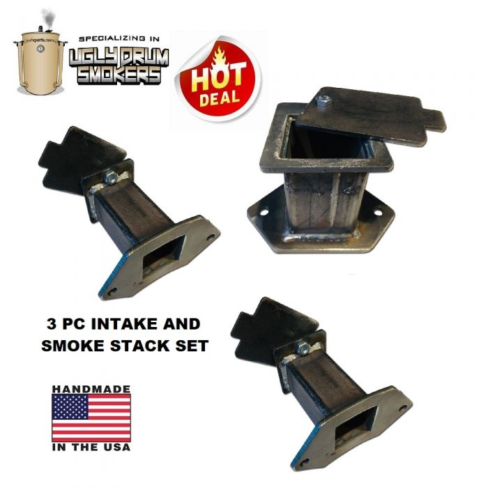 Square UDS intake and exhaust set