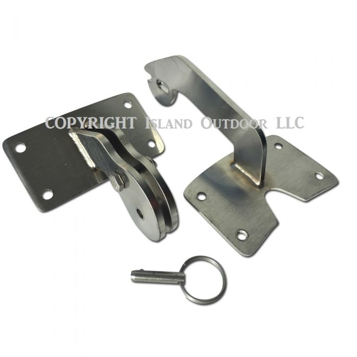 Ugly Drum smoker lid Hinge fits 55 gallon UDS - Stainless