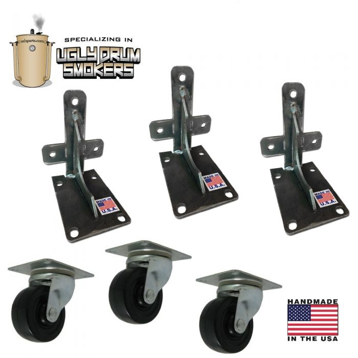 Wheel Kit for UDS - 55 gal heavy duty with 3 inch locking casters