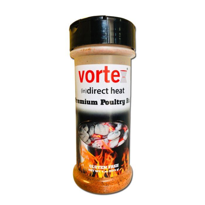 Genuine Vortex (in)Direct Heat Brand Premium Poultry Rub Chicken Seasoning - 4oz Bottle