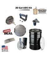 30 GALLON DRUM SMOKER KIT COMPLETE WITH DRUM