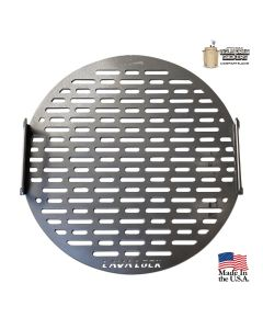 LavaLock Drum cooking grate - Laser cut w/ logo 21.75""