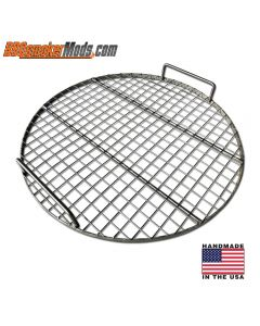 "21.5"" Stainless Wire Cooking grate for UDS, Some Weber / BGE / Kamado"