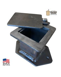 Oversized 2 in. square intake for 55 gal UDS - curved mounting flange
